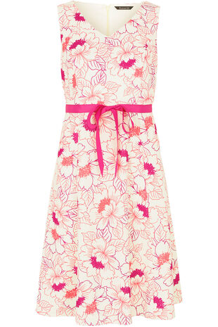 Ann Harvey Linear Floral Prom Dress
