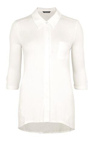 Jersey Pintuck Shirt & Chiffon Back