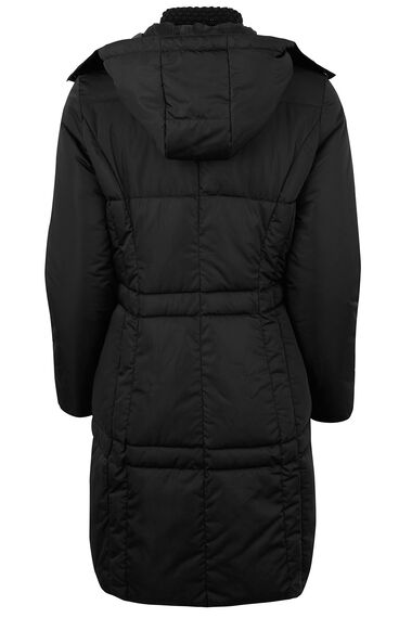 Knitted Collar Padded Coat