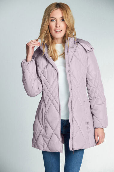 Diamond Quilted Padded Coat