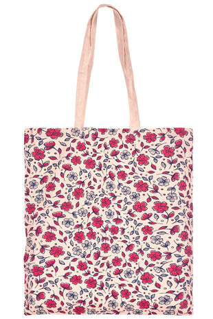Ditsy Floral Print Cotton Shopper Bag