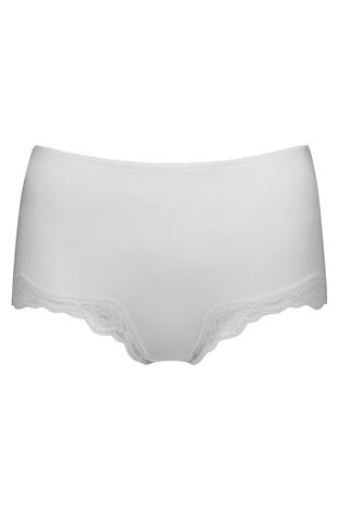 Lace Trim Microfibre Full Brief