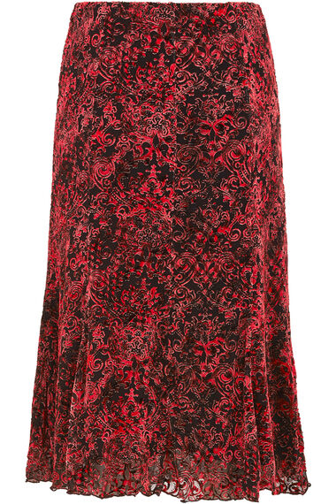 Red Burnout Skirt