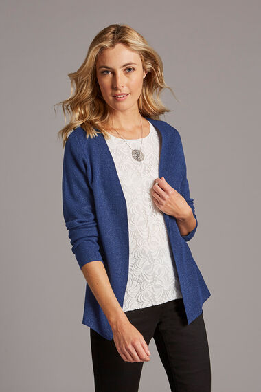 2 in 1  Metallic Mock Cardigan