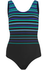 Stripe Print Swimsuit