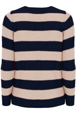 Striped  V Neck Jumper