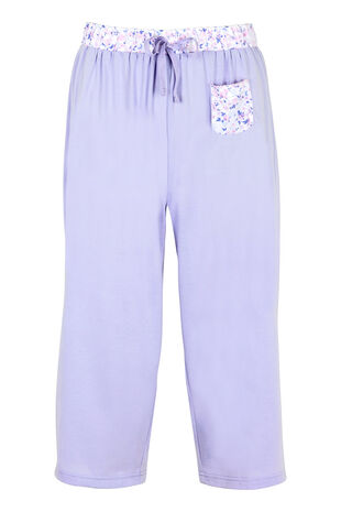 Butterfly Floral Cropped Pyjama Bottoms
