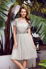 David Emanuel Lace Bodice Flippy Dress