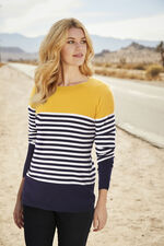 Stella Morgan Yellow Yoke Stripe Jumper
