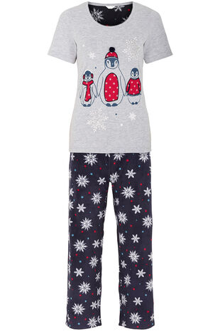 Penguin Top Fleece Pant Pyjamas