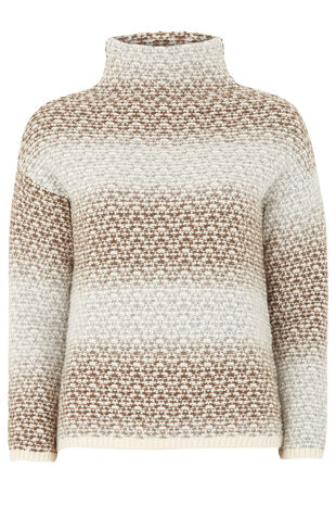Textured Turtle Neck Jumper