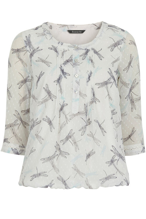 Dragonfly Print Blouse