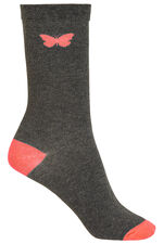 5 Pack Butterfly Detail Socks