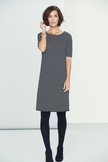 Striped A Line Dress
