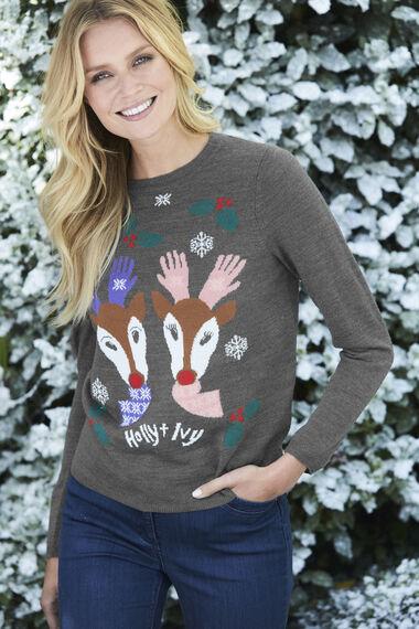 Exclusive Reindeer Christmas Jumper