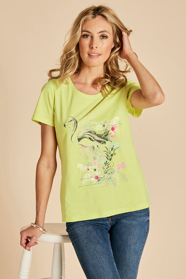 Flamingo Print T-Shirt