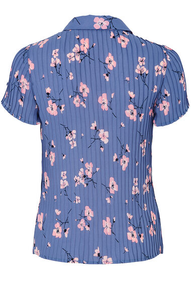 Blossom Print Pleated Blouse
