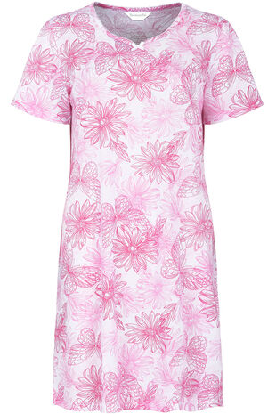 Linear Floral Nightdress