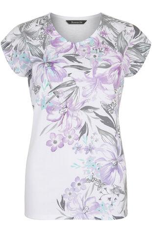 Hibiscus Placement T-Shirt