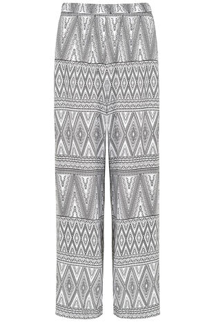 Tribal Print Wide Leg Trouser