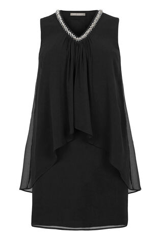 Ann Harvey Double Layer Beaded Dress