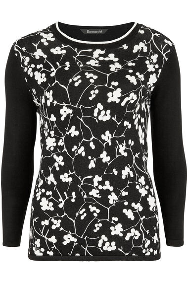 Graphic Floral Sweater