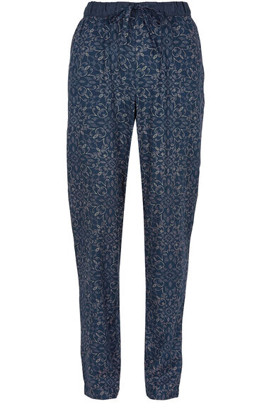Tie Front Printed Harem Trousers
