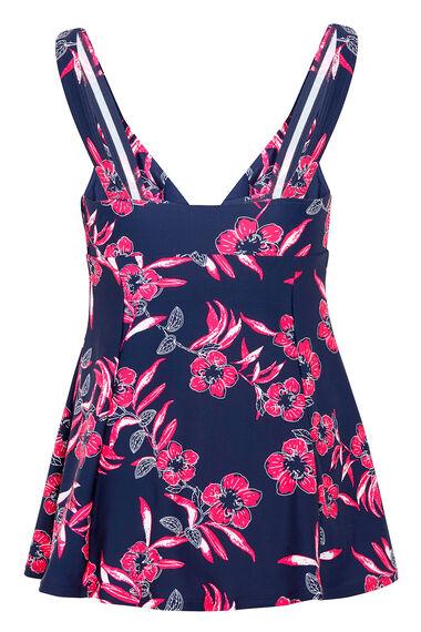Floral Print Bow Swimdress