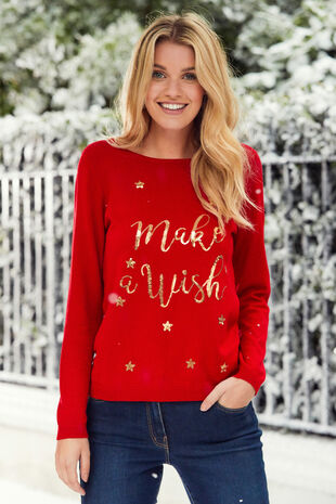 Make A Wish Christmas Jumper