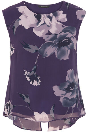 Floral Printed Double Layer Top