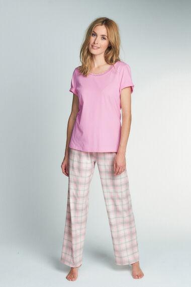 Pink Jersey Check Pyjama