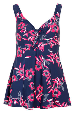 Floral Print Bow Swimdress