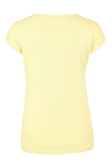 Short Sleeve Jumper With Linen
