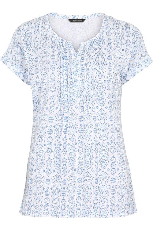 Pintuck Detail T-Shirt