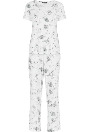 Grey Rose Pyjamas