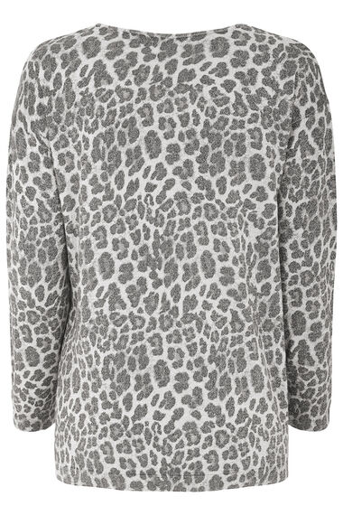 Metallic Animal Print Tunic