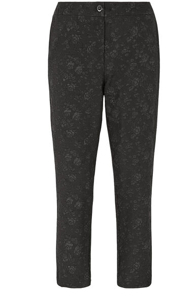 Floral Jacquard Tapered Trousers