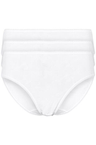 Three Pack Embroidery Briefs
