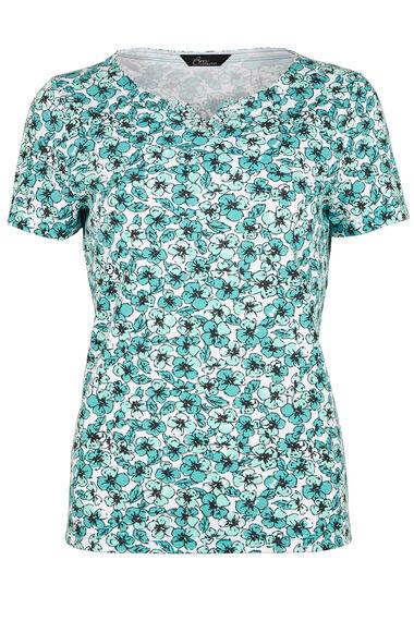 Pansy Print T-Shirt