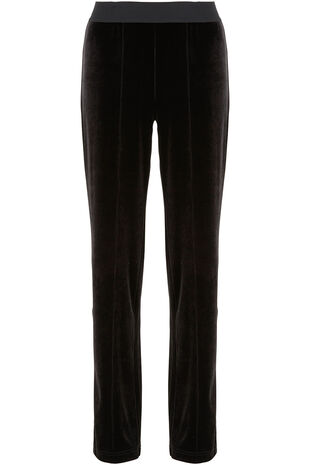 Signature Straight Leg Velour Trousers