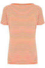 Short Sleeve Boat Neck Stripe T-Shirt
