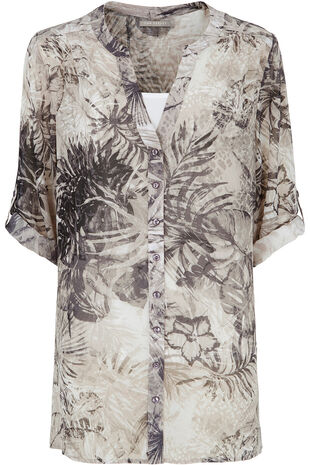 Ann Harvey Palm Print Longline Blouse