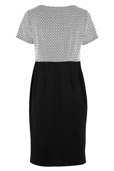 Textured Ponte Blocked Dress