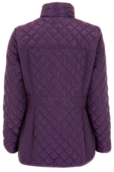 Quilted Coat with Printed Lining