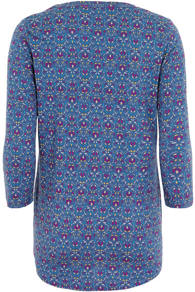 Printed Cotton Modal Jersey Tunic