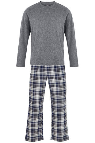Charcoal Long Sleeve Pj Set
