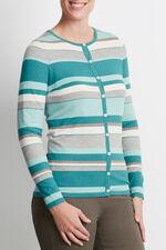 Striped Button Through Cardigan