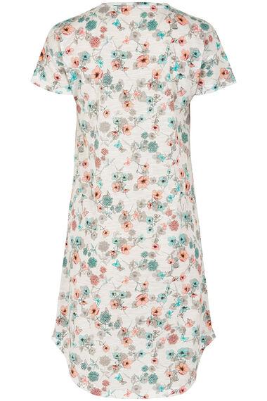 Floral Scoop Hem Nightshirt