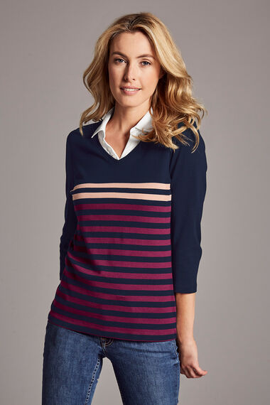 Stripe Jersey 2in1 T-Shirt