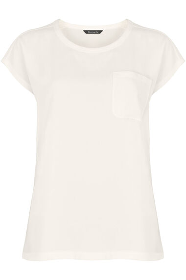 Pocket Detail Woven Front Top